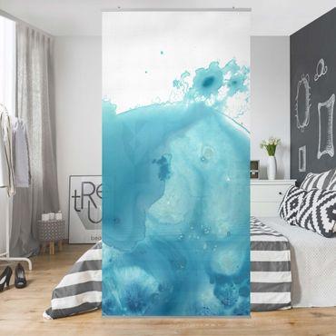 Tenda a pannello - Saluto Acquerello Turquoise II - 250x120cm