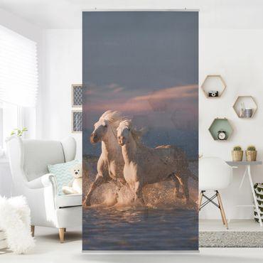 Tenda a pannello - Cavalli selvaggi in Kamargue - 250x120cm