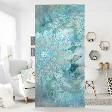 Tenda a pannello Winter Flowers 250x120cm
