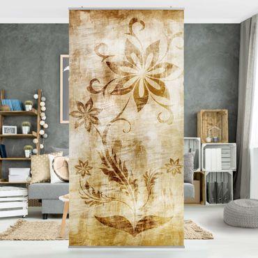 Tenda a pannello Wooden Flower 250x120cm