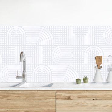 Rivestimento cucina - Fantasia arcobaleno in bianco