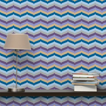 Carta da parati - Purple Herringbone Wallpaper