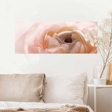 Quadro in vetro - Focus su fioritura rosa