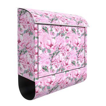 Cassetta postale - Sogno floreale rosato di rose in acquerello
