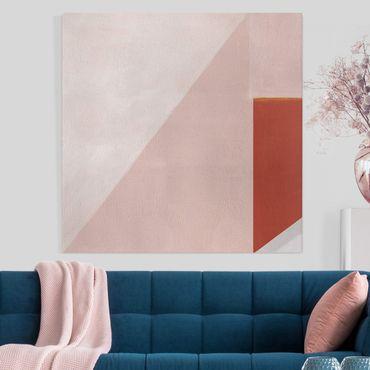 Stampa su tela - Geometria rosa - Quadrato 1:1
