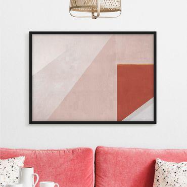 Poster con cornice - Geometria rosa