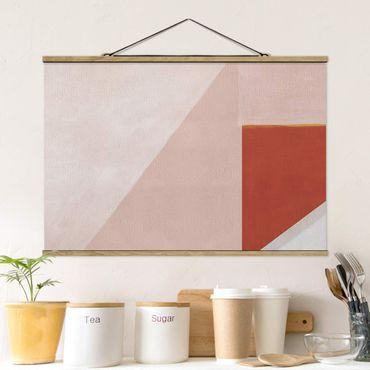 Foto su tessuto da parete con bastone - Geometria rosa - Orizzontale 3:2