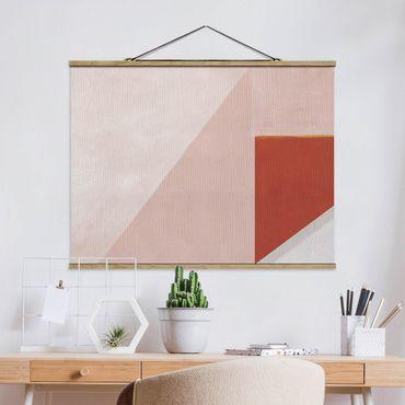 Foto su tessuto da parete con bastone - Geometria rosa - Orizzontale 4:3