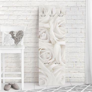 Appendiabiti con fiori - Rose bianche - Stile provenzale bianco
