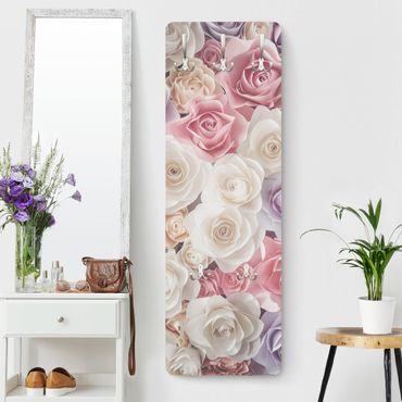 Appendiabiti - Pastel Paper Art Roses