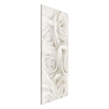 Lavagna magnetica - Rose White Roses - Panorama formato orizzontale