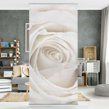 Tenda a pannello Pretty White Rose 250x120cm