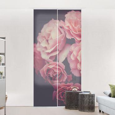 Tenda scorrevole set -Sogno di rose - Pannello