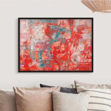 Poster con cornice - Danza di fuoco rossa