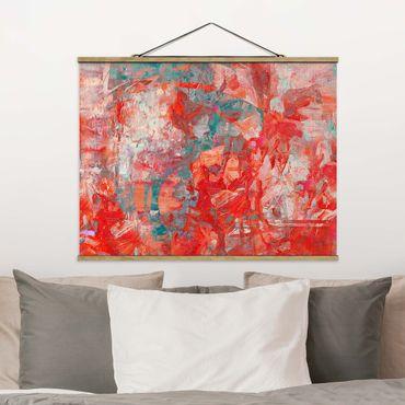 Foto su tessuto da parete con bastone - Danza di fuoco rossa - Orizzontale 4:3