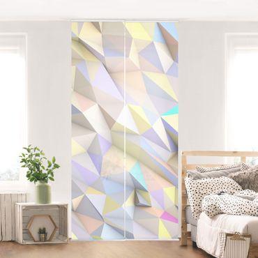 Tende scorrevoli set - Geometric Pastel Triangles In 3D