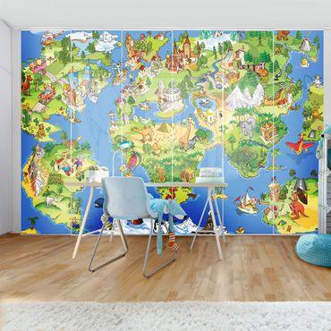Tende scorrevoli set - Great And Funny Worldmap