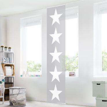 Tende scorrevoli set - Great White Stars On Gray