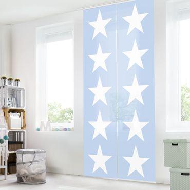 Tende scorrevoli set - Great White Stars On Blue