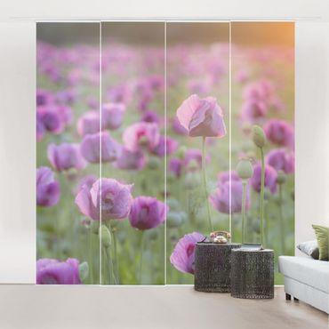 Tende scorrevoli set - Purple Poppy Flower Meadow In Spring