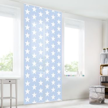 Tende scorrevoli set - White Stars On Blue