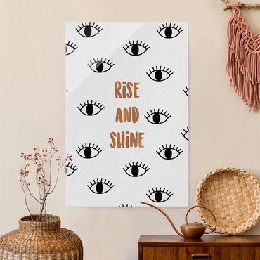 Quadro in vetro - Citazione camera da letto Rise & Shine