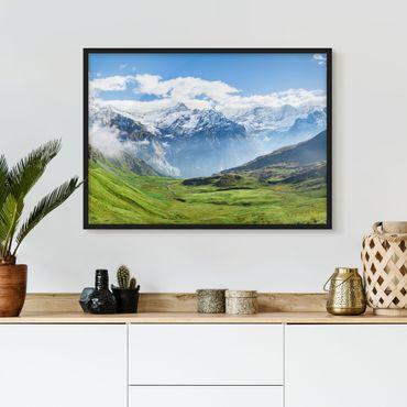 Poster con cornice - Alpenpanorama svizzero