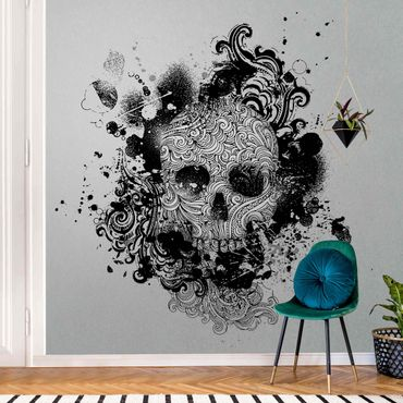 Carta da parati metallizzata - Skull