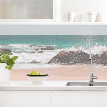 Rivestimento cucina - Spiaggia assolata in Messico