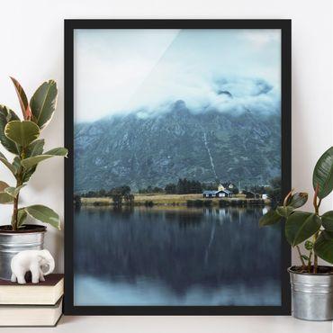Poster con cornice - Riflesso sulle Isole Lofoten