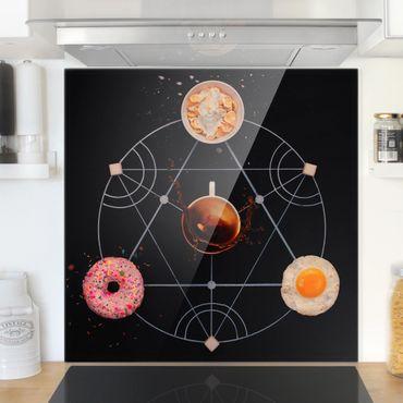 Paraschizzi in vetro - Breakfast Alchemy - Quadrato 1:1