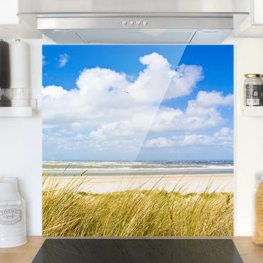 Paraschizzi in vetro - At The North Sea Coast - Quadrato 1:1
