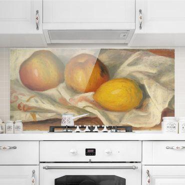 Paraschizzi in vetro - Auguste Renoir - Apples And Lemon - Orizzontale 1:2