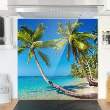 Paraschizzi in vetro - Beach Of Thailand - Quadrato 1:1