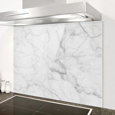 Paraschizzi in vetro - Bianco Carrara - Orizzontale 3:4