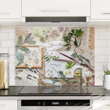Paraschizzi in vetro - Flowers And Garden Herbs Vintage - Quadrato 1:1