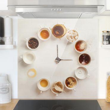 Paraschizzi in vetro - Coffee Time - Quadrato 1:1