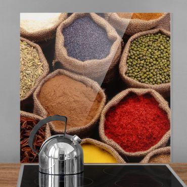 Paraschizzi in vetro - Colourful Spices - Quadrato 1:1
