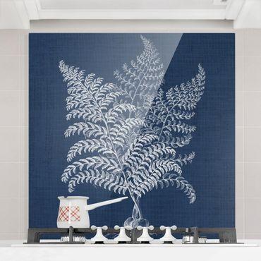 Paraschizzi in vetro - Studio floreale su denim VI - Quadrato 1:1