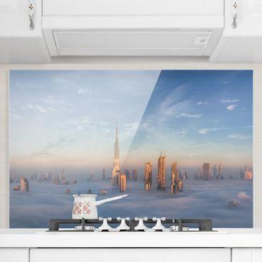 Paraschizzi in vetro - Dubai Sopra Le Nuvole - Orizzontale 2:3