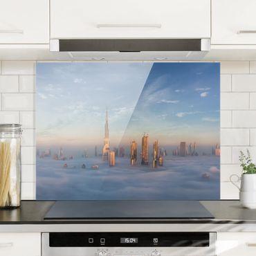 Paraschizzi in vetro - Dubai Sopra Le Nuvole - Orizzontale 3:4