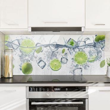 Paraschizzi in vetro - Refreshing lime - Panoramico