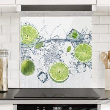 Paraschizzi in vetro - Refreshing Lime - Quadrato 1:1