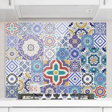 Paraschizzi in vetro - Mirror Tiles - Elaborate Portuguese Tiles - Orizzontale 2:3