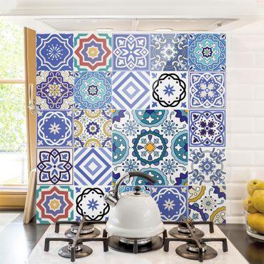 Paraschizzi in vetro - Mirror Tiles - Elaborate Portuguese Tiles - Quadrato 1:1