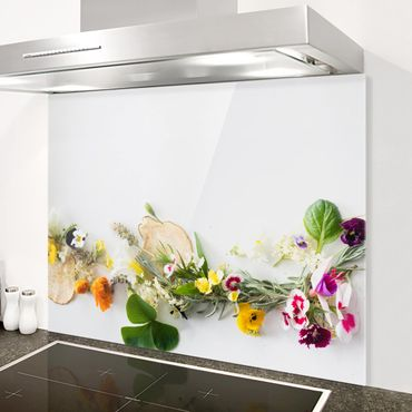 Paraschizzi in vetro - Fresh Herbs With Edible Flowers - Orizzontale 2:3