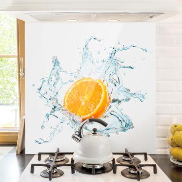 Paraschizzi in vetro - Fresh Orange - Quadrato 1:1
