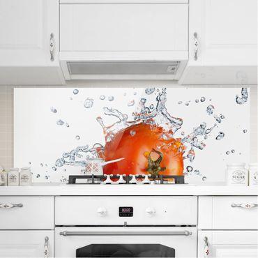 Paraschizzi in vetro - Fresh Tomato - Panoramico