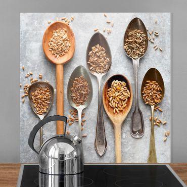 Paraschizzi in vetro - Cereal Grains Spoon - Quadrato 1:1