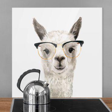 Paraschizzi in vetro - Lama con occhiali I - Quadrato 1:1